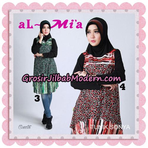 Jilbab Lengan Tunik Sonya Original By Almia ( Al-Mi'a Brand ) No 3 & 4