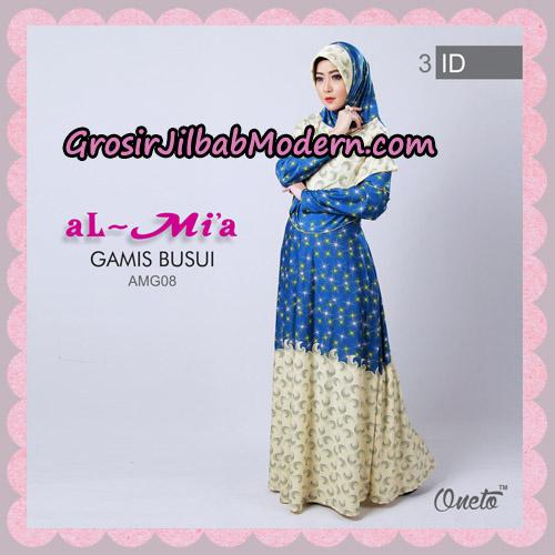 Setelan Gamis Busui Motif Kembang Api AMG08 Original By Almia ( Al-Mi'a Brand ) No 3