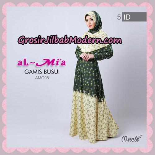 Setelan Gamis Busui Motif Kembang Api AMG08 Original By Almia ( Al-Mi'a Brand ) No 5
