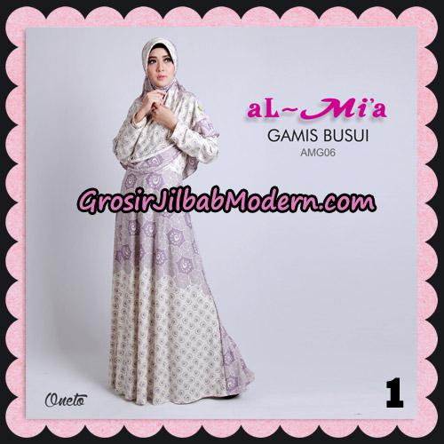 Stelan Gamis Busui AMG06 Cantik Original By Almia ( Al-Mi'a Brand ) No 1
