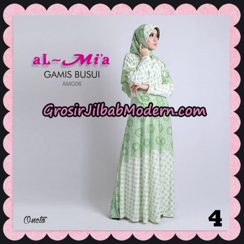 Stelan Gamis Busui AMG06 Cantik Original By Almia ( Al-Mi'a Brand ) No 4