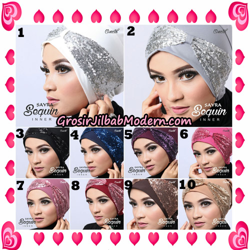 Inner Jilbab Sequin Original By Sayra Hijab Brand