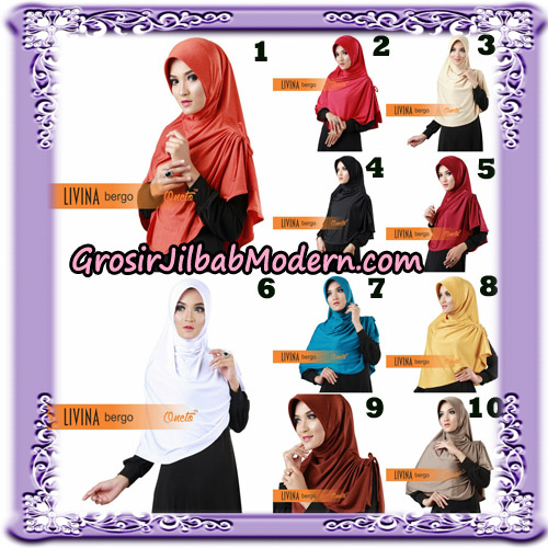 Jilbab Bergo Livina Simple Original By Oneto Hijab Brand