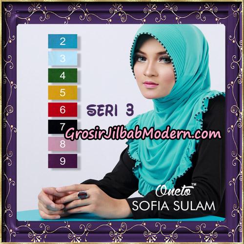 Jilbab Bergo Sofia Sulam Seri 3 Original By Oneto Hijab
