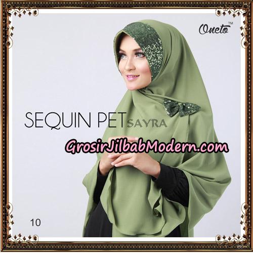 Jilbab Instant Sequin Pet Original By Sayra Hijab Brand No 10