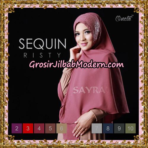 Jilbab Instant Sequin Risty Original By Sayra Hijab Brand