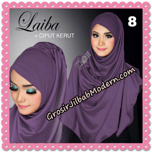 Jilbab Instant Silk Syria Laiba Seri 2 Original By Flow Idea No 8
