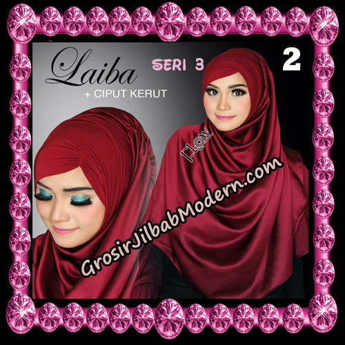Jilbab Instant Silk Syria Laiba Seri 3 Original By Flow Idea No 2