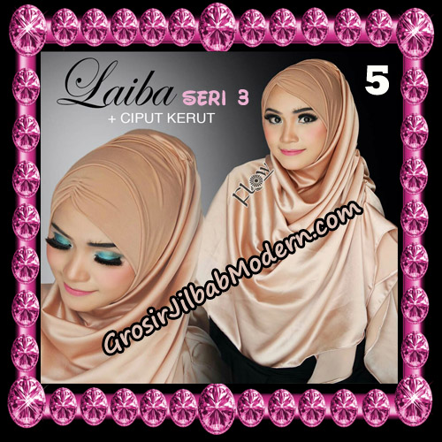 Jilbab Instant Silk Syria Laiba Seri 3 Original By Flow Idea No 5
