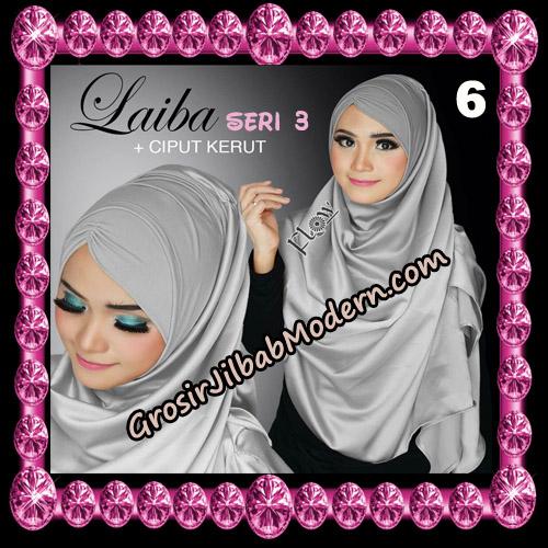 Jilbab Instant Silk Syria Laiba Seri 3 Original By Flow Idea No 6
