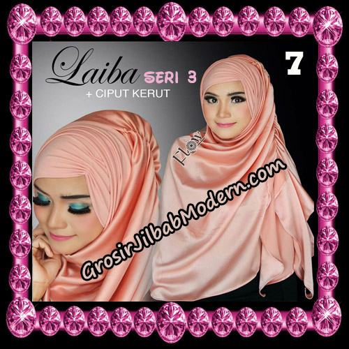 Jilbab Instant Silk Syria Laiba Seri 3 Original By Flow Idea No 7