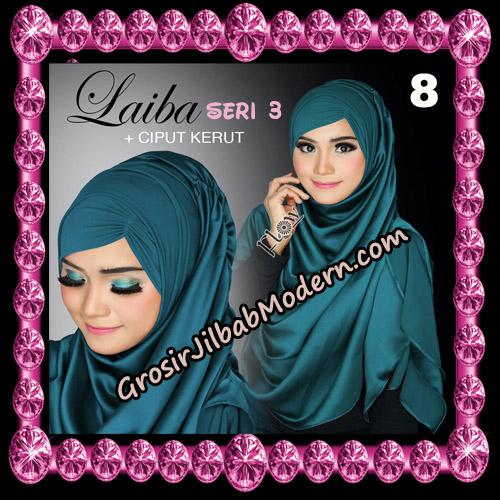 Jilbab Instant Silk Syria Laiba Seri 3 Original By Flow Idea No 8