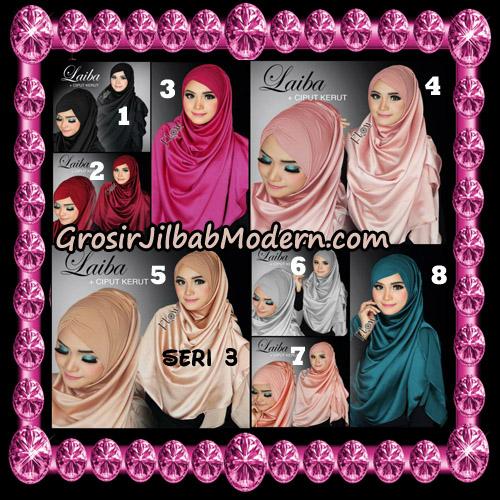 Jilbab Instant Silk Syria Laiba Seri 3 Original By Flow Idea
