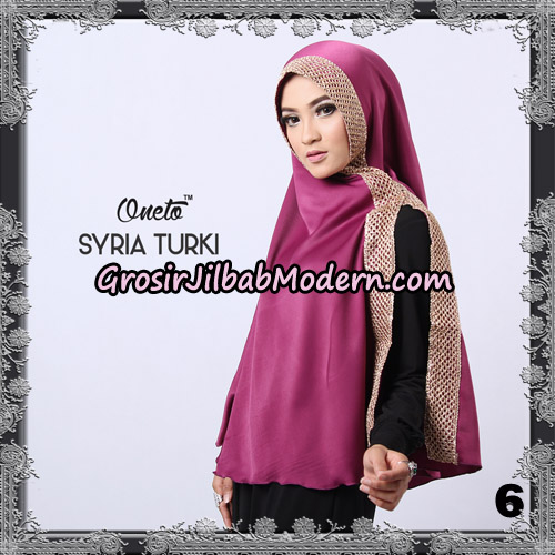 Jilbab Instant Syria Turki Exclusive Support Oneto Hijab No 6
