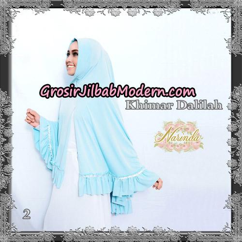 Jilbab Jumbo Khimar Dalilah Original By Narinda Hijab No 2 Biru Muda