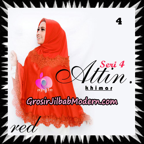 Jilbab Khimar Attin Seri 4 Original By Apple Hijab Brand No 4 Red