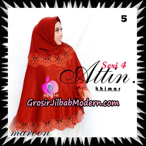 Jilbab Khimar Attin Seri 4 Original By Apple Hijab Brand No 5 Maroon