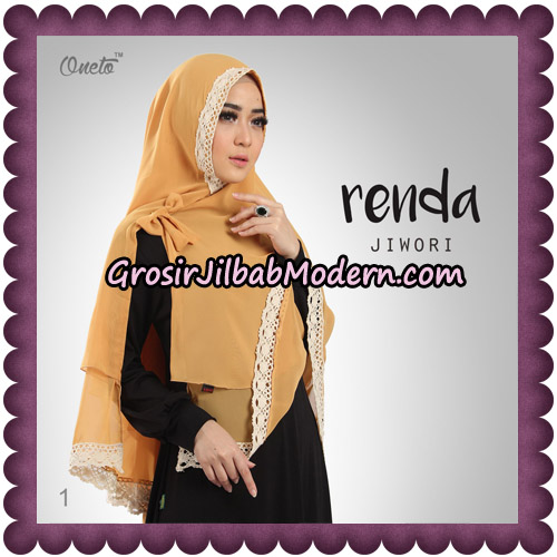 Jilbab Khimar Cerutti Jiwori Renda Original By Dhea Brand No 1