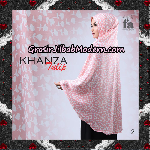 Jilbab Khimar Khanza Tulip By Fa Hijab Support Oneto Hijab No 2