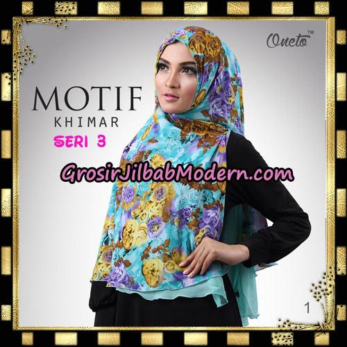 Jilbab Khimar Motif Non Pet Seri 3 Support By Oneto Hijab No 1