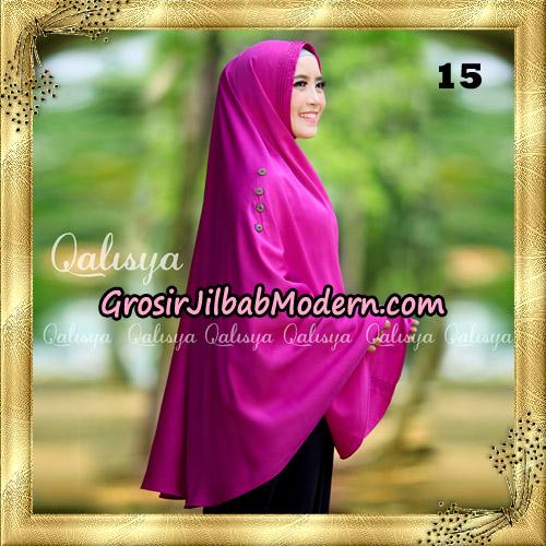 Jilbab Khimar Syari Ziya Seri 2 Original By Qalisya Hijab Brand No 15