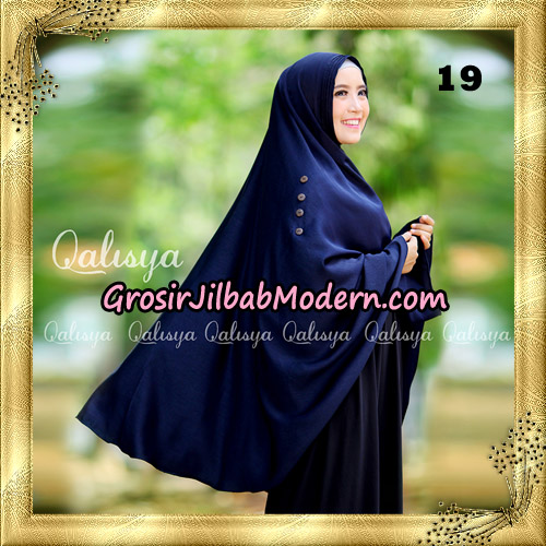 Jilbab Khimar Syari Ziya Seri 2 Original By Qalisya Hijab Brand No 19