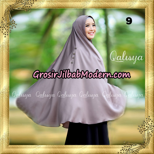 Jilbab Khimar Syari Ziya Seri 2 Original By Qalisya Hijab Brand No 9