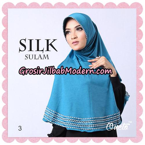 Jilbab Silk Sulam Original By Oneto Hijab Brand No 3