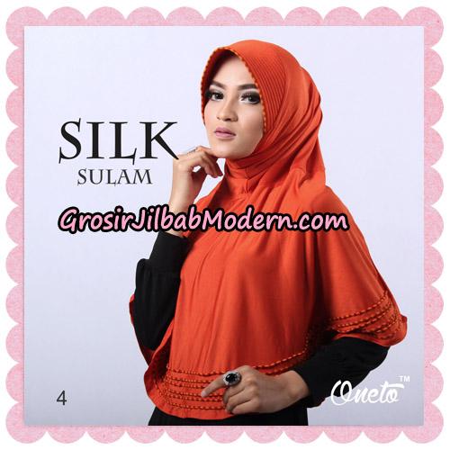 Jilbab Silk Sulam Original By Oneto Hijab Brand No 4