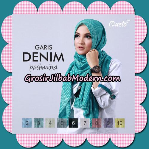 Pashmina Garis Denim By Umama Support Oneto Hijab