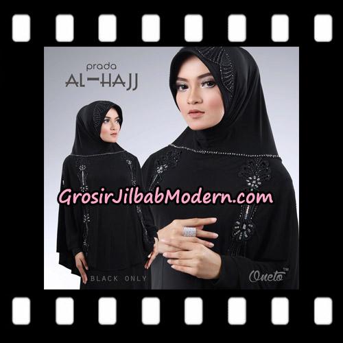Jilbab Bergo Instant Cantik Prada Al Hajj Support Oneto Hijab - Hitam