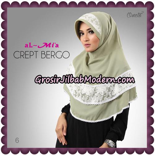 Jilbab Crept Bergo Cantik Original By Almia Brand No 6