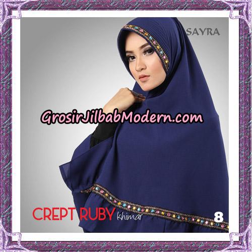 Jilbab Khimar Crept Ruby Cantik Original By Sayra Hijab Brand No 8