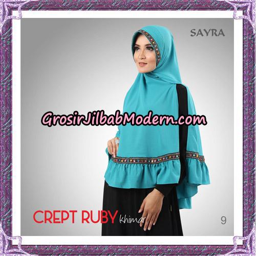 Jilbab Khimar Crept Ruby Cantik Original By Sayra Hijab Brand No 9