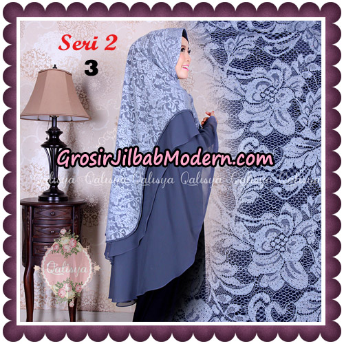 Jilbab Khimar Syari Sabqa Brukat Seri 2 Original By Qalisya Hijab Brand No 3