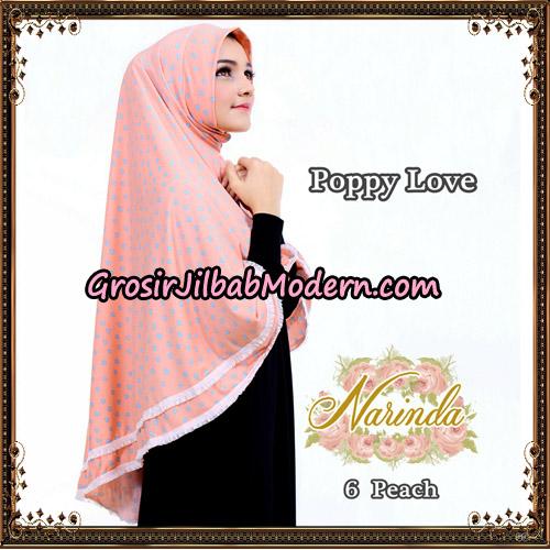 Jilbab Long Syria Poppy Love Original By Narinda Hijab No 6