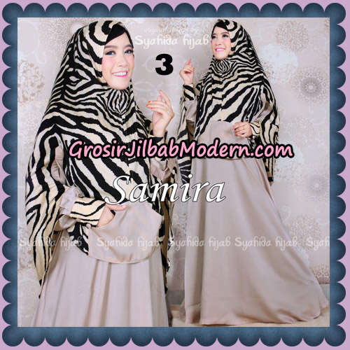 Setelan Gamis Syari Samira Original By Syahida Brand No 3