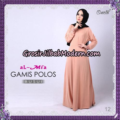 Gamis Polos Busui Cantik Original By Almia Brand No 12