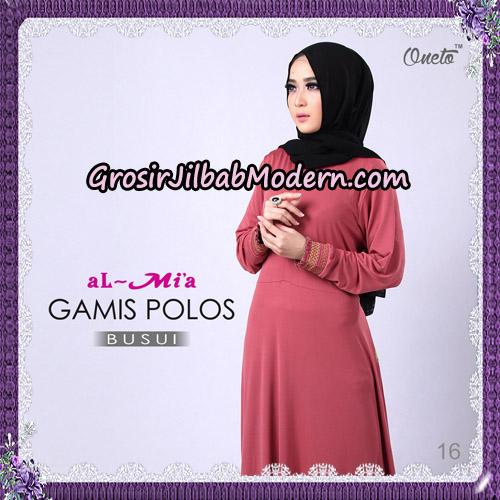Gamis Polos Busui Cantik Original By Almia Brand No 16