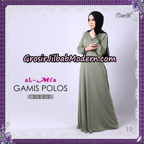 Gamis Polos Busui Cantik Original By Almia Brand No 19