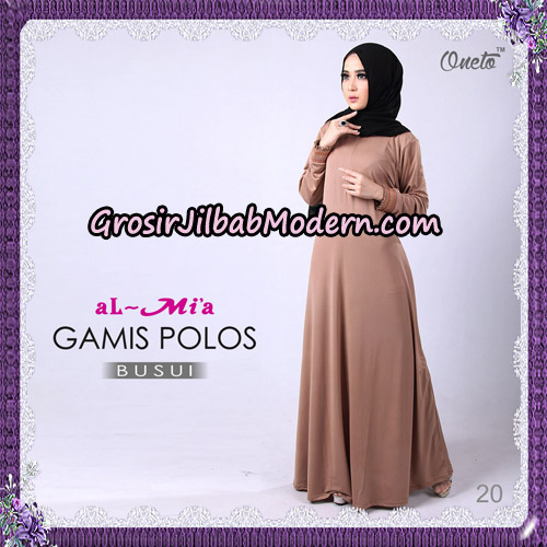 Gamis Polos Busui Cantik Original By Almia Brand No 20