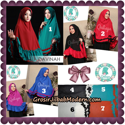 Jilbab Ceruti Bolak Balik Dua Warna Khimar Davinah Original By Qalisya Hijab