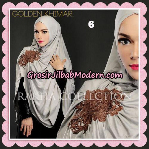 Jilbab Instant Golden Khimar Original By Rakha Hijab Brand No 6