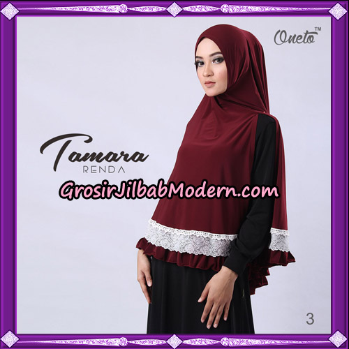 Jilbab Khimar Syari Tamara Renda Support Oneto Hijab No 3