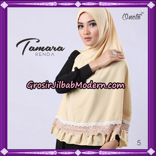 Jilbab Khimar Syari Tamara Renda Support Oneto Hijab No 5