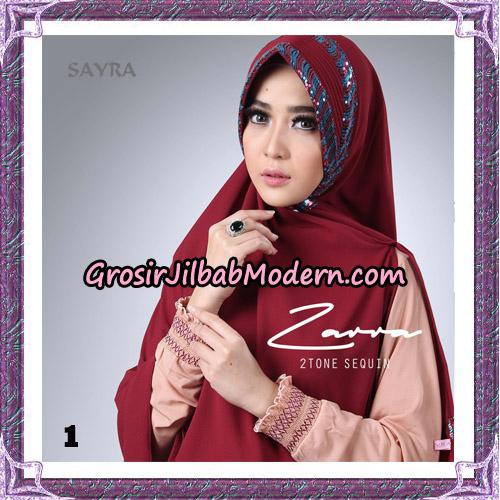Jilbab Khimar Zarra 2Tone Sequin Original By Sayra Hijab Brand No 1