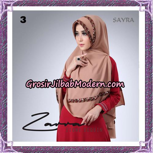 Jilbab Khimar Zarra 2Tone Sequin Original By Sayra Hijab Brand No 3