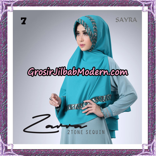 Jilbab Khimar Zarra 2Tone Sequin Original By Sayra Hijab Brand No 7