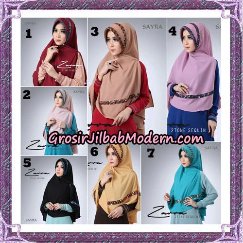 Jilbab Khimar Zarra 2Tone Sequin Original By Sayra Hijab Brand