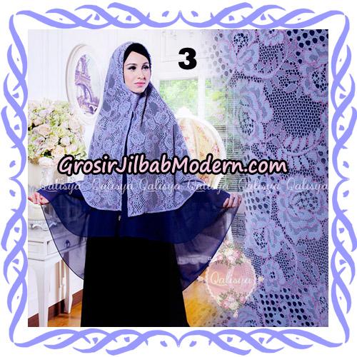 Jilbab Syari Modern Khimar Halwa Brukat Seri 4 Original by Qalisya Hijab Brand No 3